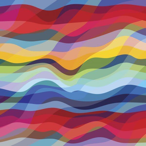Abstract Waves – Designer Splashback
