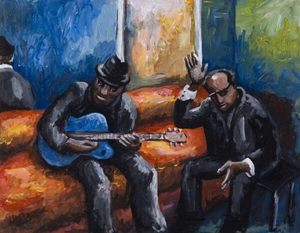 Acoustic Blues - Designer Splashbacks