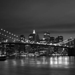 Brooklyn Bridge at Night Black and White – Designer Splashback