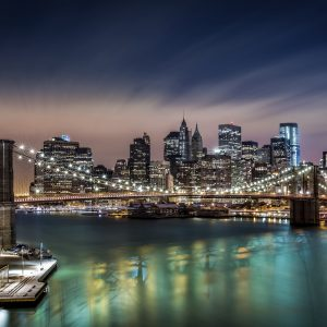 Brooklyn Bridge Lit up – Designer Splashback