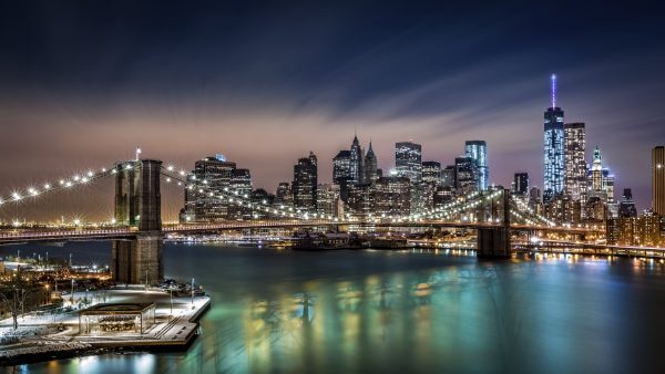 Brooklyn Bridge Lit up – Designer Splashback