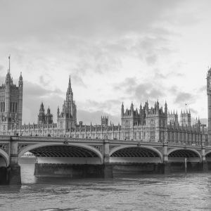 Big Ben Black and White - Designer Splashbacks
