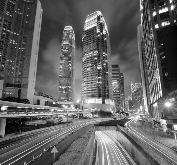 City Life Black and White - Designer Splashback