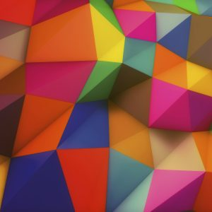 Colourful Shapes - Designer Splashback