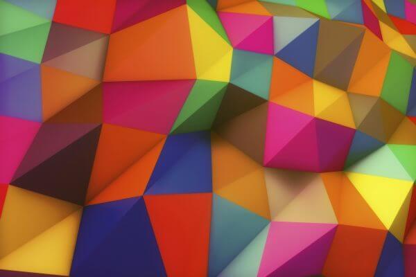 Colourful Shapes - Designer Splashback
