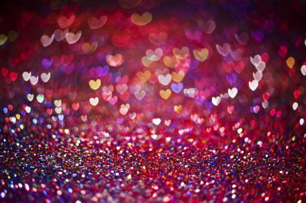 Colourful Hearts - Designer Splashback