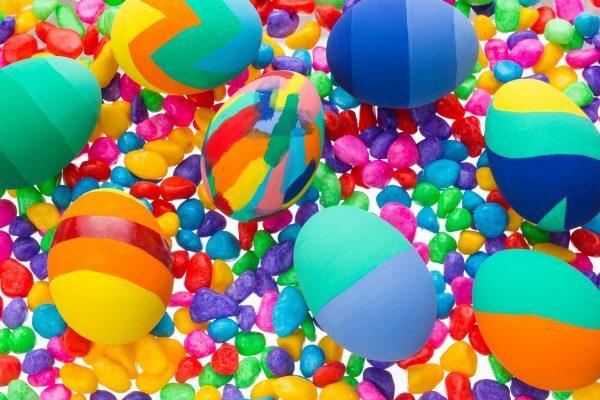 Colourful Eggs - Designer Splashback