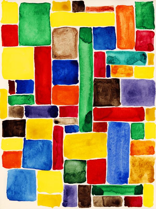 Colourful Squares - Designer Splashback