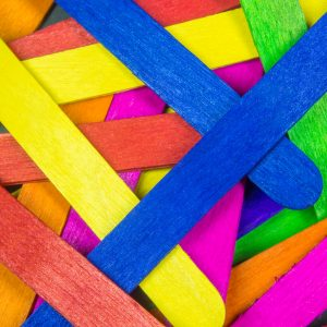 Colourful Sticks - Designer Splashback