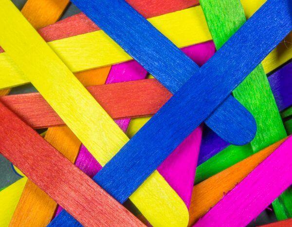 Colourful Sticks - Designer Splashback