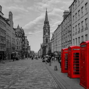 Edinburgh Red Telephone Boxes – Designer Splashback