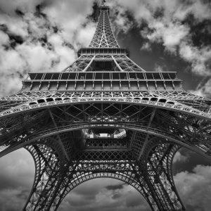 Eiffel Tower Black and White – Designer Splashback