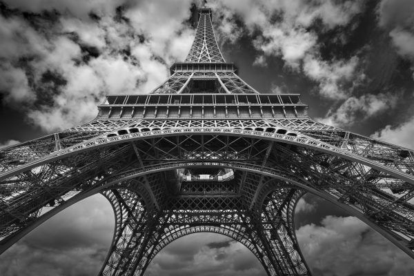 Eiffel Tower Black and White – Designer Splashback