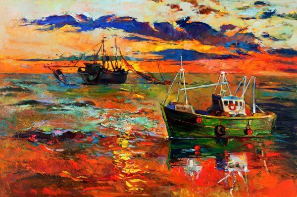 Fishing Boats - Designer Splashback