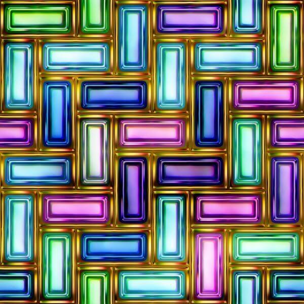 Interlocking Rectangles – Designer Splashback