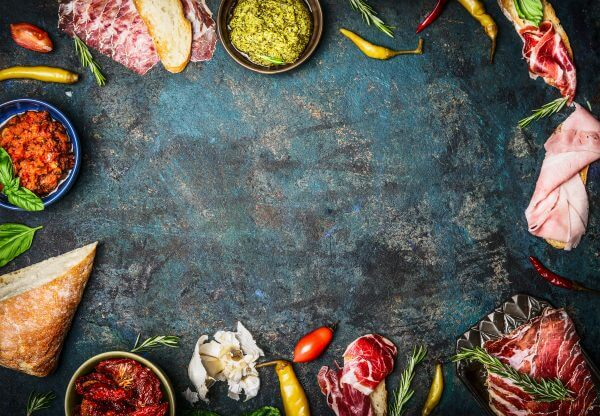 Italian Ingredients - Designer Splashback