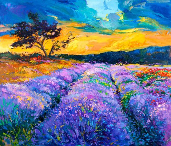 Lavender Fields – Designer Splashback