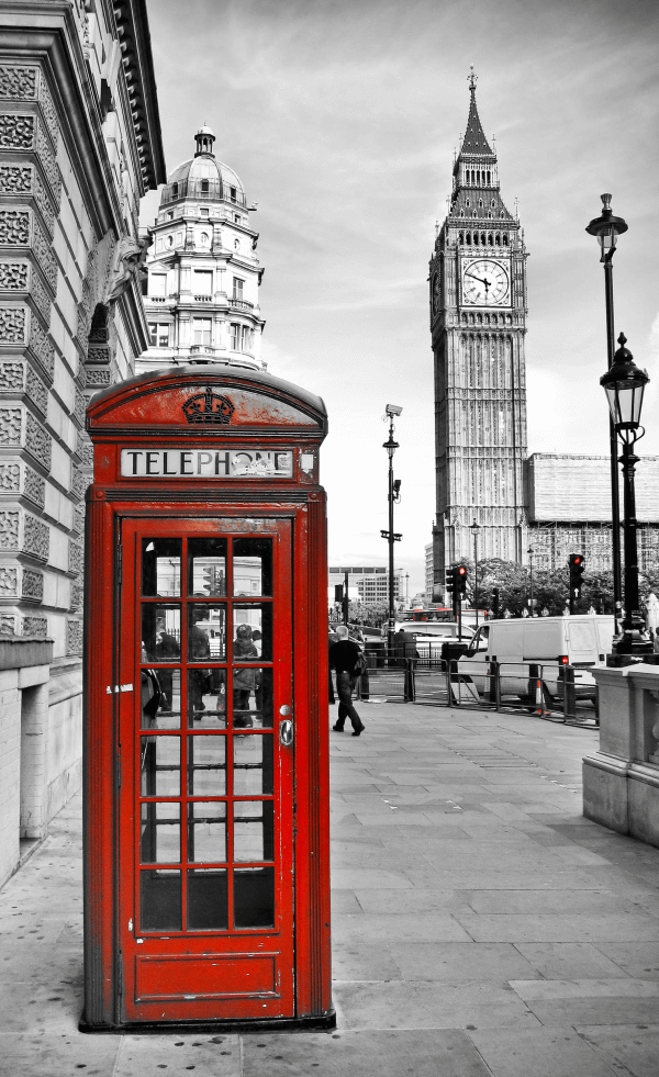 London Telephone Box – Designer Splashback