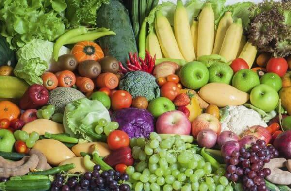 Mixed Tropical Fruit and Vegetables – Designer Splashback