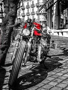 Motorcycle Red Emphasis – Designer Splashback