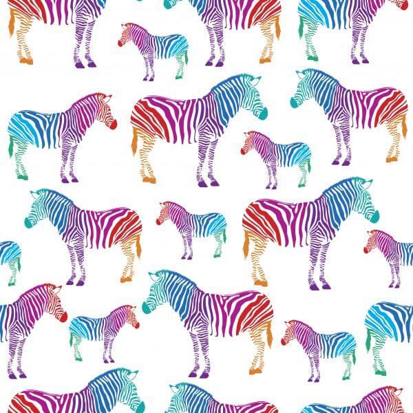 Multicolour Zebras – Designer Splashback