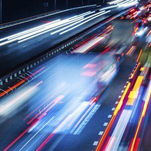 Night Traffic - Designer Splashback