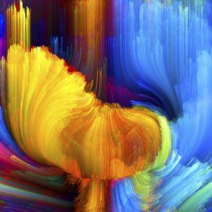 Oil Painting of Flowers – Designer Splashback