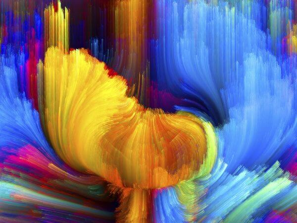 Oil Painting of Flowers – Designer Splashback