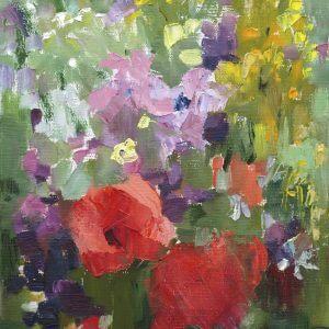 Oil Painting of Flowers Two – Designer Splashback