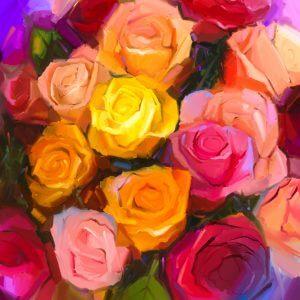 Painted Roses - Designer Splashback