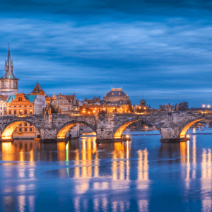 Prague at Night - Designer Splashback