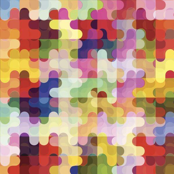 Puzzle of Colours - Designer Splashback