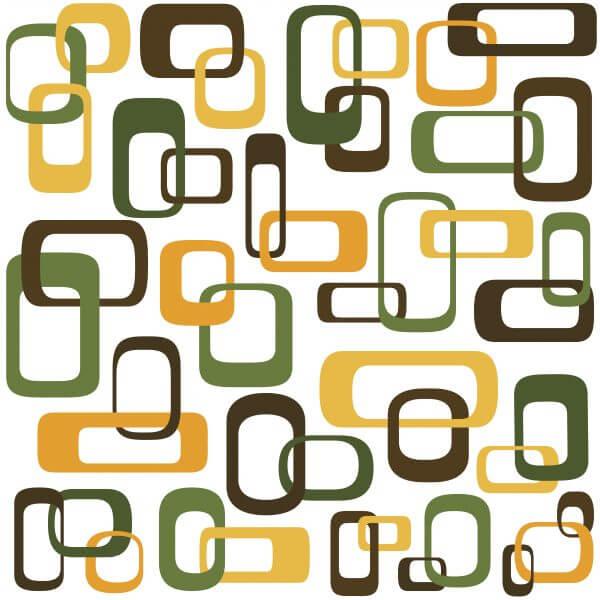 Retro Interlocking Squares – Designer Splashback
