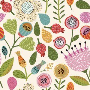 Seamless Floral Pattern – Designer Splashback