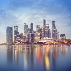 Singapore Skyline – Designer Splashback