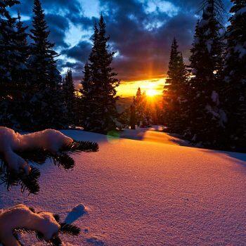 Mountain Sunset - Designer Splashbacks