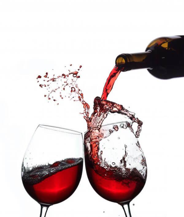 Splashing Red Wine - Designer Splashbacks