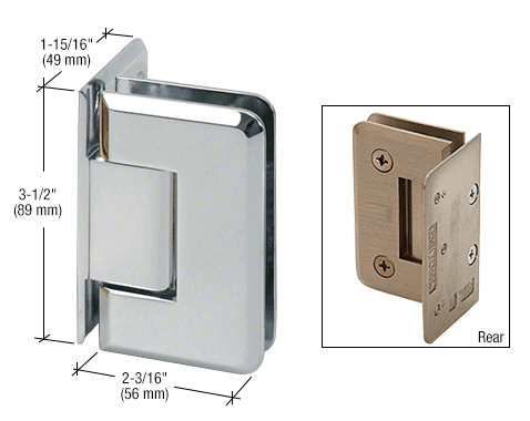 8 mm Wall mount Off set hinges