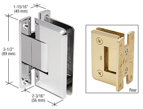 8 mm Pinnacle Wall mount hinge